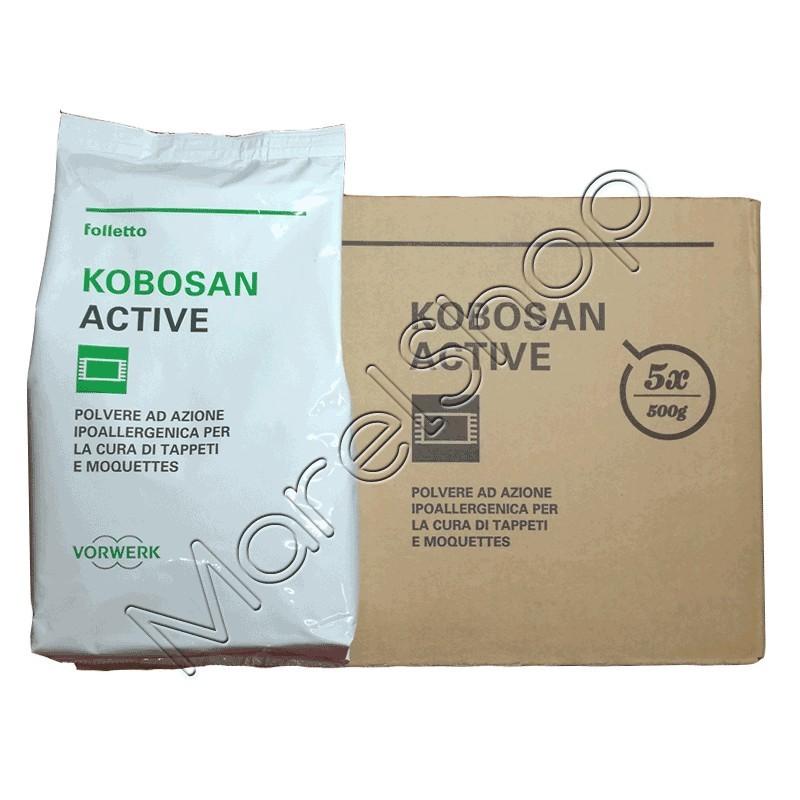 5 confez polvere tappeti kobosan active originale vorwerk - Polvere per tappeti folletto ...